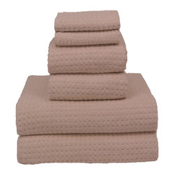 Kaufman - Natural 700-gram Cotton 6-piece Towel Set - 6 Piece luxerious  towel -set-  700 gram this made of 100% cotton and is made of the  finest  ring spun 2 ply yarn. The honey comb effect  of the towel assures you of the excellent  drying towel.
