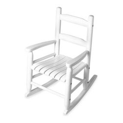 Lipper - Lipper International Child's Rocking Chair in White - With a timeless style and a great relaxing effect for your child, this will be your new favorite chair. It features a non-toxic finish that complements any décor. Beech wood construction.
