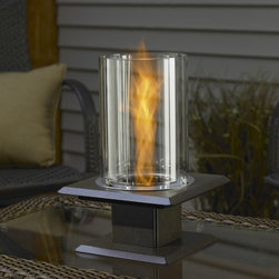 Allure Sedona Table Top Firepit - A tabletop fireplace is sure to warm things up on those chilly nights.