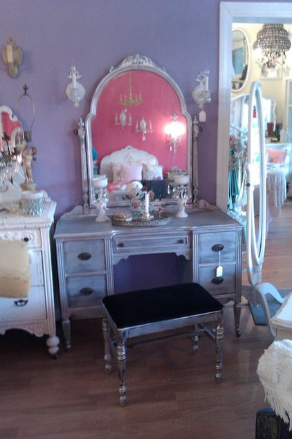 eclectic makeup mirrors by Donna Thomas Vintage Chic Furniture