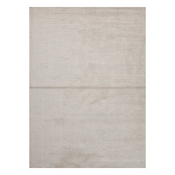 Jaipur Rugs - Solid Pattern Ivory /White Wool/Silk Handloom Rug - BI10, 9x12 - Treat your feet with every step you take on this silk and wool rug. The soft, hand-loomed rug has a ribbed construction that adds depth and texture to your room. Use it in the bedroom so you can start and end your day in luxury.