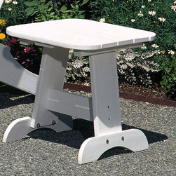 Seaside Casual Adirondack End Table - Seaside Casual Furniture has been providing outdoor products to Southern New England for nearly 100 years. We are confident that you are viewing the finest ready to assemble outdoor furniture products available.