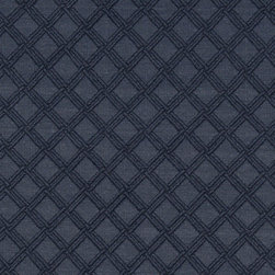 Blue Stitched Diamond Woven Matelasse Upholstery Grade Fabric By The Yard - This material is great for indoor upholstery applications. This Matelasse is rated heavy duty, and is upholstery weight. It is woven for enhanced appearance.