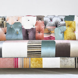 Chesterfield Patchwork Sofa by Name Design Studio - This awesome couch is quite a statement, but it's impossible to not smile when you see it, no?