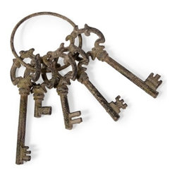 Decorative Cast Iron Skeleton Keys - *Decorative cast iron skeleton keys are will add a sense of mystery and adventure when placed on an entry table or bookshelf.