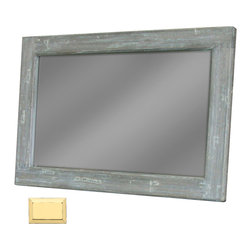 Tradewinds - Handmade Wooden Frame Mirror, Yellow - The Cottage Plank Mirror features a handmade wooden frame in a rectangular form and a super clear mirror. It is available in different color options and is also available in classic hand-rubbed rain water white finish. One may hung it either vertically or horizontally on walls.