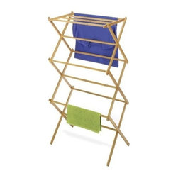 Whitmor - Bamboo Folding Drying Rack by Whitmor - Bamboo is a sustainable and renewable resource that is designed with a modern and elegant look to co-ordinate with any decor. This bamboo drying rack features 11 drying rods and folds for easy storage when not in use.