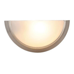 AF LIGHTING - Lunar Bay Lighting Collection, Wall Sconce, Brushed Nickel - Add style to any room with this decorative wall sconce fixture in a rich brushed nickel finish.