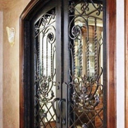 Wrought Iron Front Entry Door Double Custom Ornamental Security -
