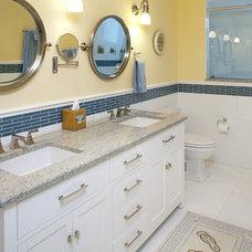 Traditional Bathroom by Danmark Development, LLC.