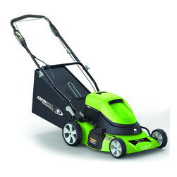 Earthwise - Earthwise 18-inch Cordless Self Propelled Electric Mower - Cut your lawn regularly without hassling with long extension cords with this cordless electric lawn mower. This battery-operated lawn mower has a stylish exterior and a convenient LED battery monitor. It also features a foldable handle for easy storage.