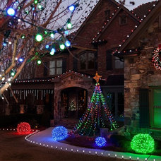 Eclectic Outdoor Holiday Decorations by Christmas Lights, Etc