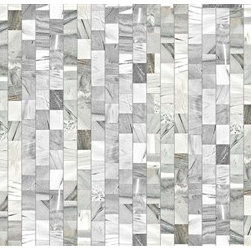 Walls Republic - Mixed Marble Mural Wallpaper M8976 - Mixed Marble is a tiled pattern that gives you highly realistic textural look. It is the perfect alternative to achieving a marble look without the cost of real marble. Use it in your powder room or kitchen for a rich luxurious aura. Due to this item being a custom order, it takes longer to ship than our regular products.
