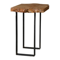 Natural Edge Furniture - Western Maple End Table - Thank you for considering this one of a kind piece from Natural Edge Furniture. It is handmade in our small shop in Bend Oregon by very patient craftsmen and women. We salvaged the tree, milled the lumber and dried it ourselves. Drying takes years to do it properly, so that is what we do.