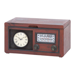 Old-Fashioned Clock Radio Cabinet - This vintage-inspired cabinet offers a little bit of everything. Featuring four shelves and six drawers, it's also made to look like an old-fashioned clock radio. Use it in the living room or study for a note of classic charm.