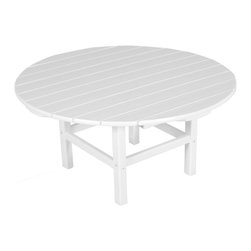 Polywood - Eco-friendly Coffee Table in White - Enhance your outdoor living and entertaining space with this classic conversation table. it's guaranteed to get people talking.