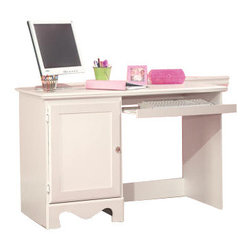 Standard Furniture - Standard Furniture Spring Rose 47 Inch Student Desk in White - Spring Rose features a traditional look, inspired by classic European Victorian design. Wood products with simulated wood grain laminates. Group may contain some plastic parts. French dovetail. Roller side drawer guides. Dust proofing underneath protects items in drawers from up drafting dust. Clear colored knobs with fancy filigreed pattern back plates in a silver color finish. White pearlescent color finish creates lasting, attractive and easy-to-clean surfaces. Surfaces clean easily with a soft cloth.