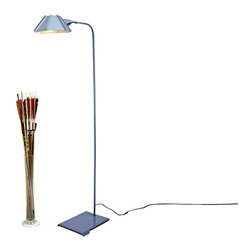 Brendan Ravenhill - Hex Floor Lamp, Gray - You'd be hard-pressed to find a better floor lamp for a small home office or reading nook. The neck is offset, allowing the base to tuck neatly beneath a desk or armchair, and the shade can rotate to ensure light hits in just the right place. Perfect!