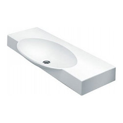 "LaToscana - LaToscana TCL1180 White Swing 85 Swing 85 Wall Mount or Above Counter - Swing 85 Wall Mount or Above Counter Bathroom Sink with Single Faucet Hole and 3.93"" Basin Depth The beauty of the LaToscana collection is essential and follows the ultimate trends. Mixing the refined old fashion with the newest finishing shapes. LaToscana L1180 Features:  Vitreous china Mounting hardware included Single hole only Requires towel rod (model # 780) White finish Single faucet hole Center placed drain Towel bar sold separately but required for wall mounting applications  LaToscana L1180 Specifications:  1.5"" maximum deck thickness 3.93"" basin depth 33-1/4""W x 18-1/2""D overall dimensions"