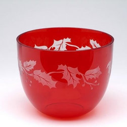 ATD - 6.75 Inch Red and White Leaf Christmas Holiday Deep Glass Bowl - This gorgeous 6.75 Inch Red and White Leaf Christmas Holiday Deep Glass Bowl has the finest details and highest quality you will find anywhere! 6.75 Inch Red and White Leaf Christmas Holiday Deep Glass Bowl is truly remarkable.