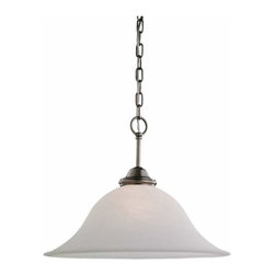 Sea Gull Lighting - 1-Light Pendant Antique Brushed Nickel - 65360-965 Sea Gull Lighting Rialto 1-Light Pendant with a Antique Brushed Nickel Finish