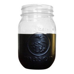 Your Nest Inspired - Mason Jar Cozy, Set Of Two, Black - My mason cozy is designed to keep your cold drinks cold, and water rings off your table. The mason jar is coated with several layers of an insulating soft rubber material, preventing condensation from forming on the bottom of the glass. Beat the heat this summer!