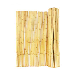 "Natural Rolled Bamboo Fence 3/4"" D X 6' H X 8' L - Natural Rolled Bamboo Fence 3/4"" D X 6' H X 8' L"