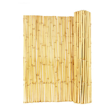 """Natural Rolled Bamboo Fence 3/4"""" D X 6' H X 8' L - Natural Rolled Bamboo Fence 3/4"""" D X 6' H X 8' L"""
