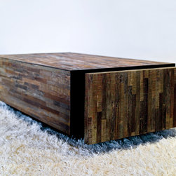Santomer Block Coffee Table - Santomer Block Coffee Table made from reclaimed Brazilian Peroba Rosa wood