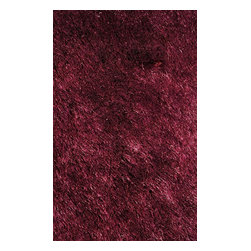 "LA Rugs - Shag Silky Shag Hallway Runner 2'0""x8' Runner Burgundy Area Rug - The Silky Shag area rug Collection offers an affordable assortment of Shag stylings. Silky Shag features a blend of natural Burgundy color. Machine Made of Polyester the Silky Shag Collection is an intriguing compliment to any decor."