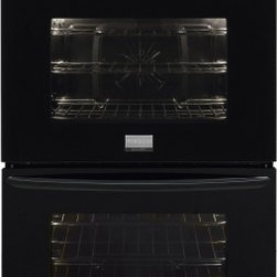 "Frigidaire - Gallery Series FGET2765PB 27"" Double Electric Wall Oven With 3.8 Cu. Ft. Ovens - This item is for a 27 double electric wall oven This wall oven features True Convection where a single convection fan circulates hot air throughout the oven for faster and more even multi-rack baking Even Baking Technology which ensures even baking e..."