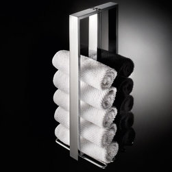 WS Bath Collections - Skuara Vertical Towel Holder - Skuara 52819 by WS Bath Collections Vertical Towel Holder in Chrome Plated Brass, Made in Italy