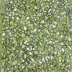 Untitled #21 - Color, shape and contrast are the key to Steven Miller's painting. The olive green hues create a wonderful accent in your living or dining area, while the organic shapes and detail are a great conversation piece when guests come over.