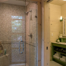 Rustic Bathroom by Our Town Plans