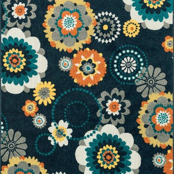 """Loloi - Loloi Catalina HCF-06 (Navy, Multi) 9'2"""" x 12'1"""" Rug - This Machine Made rug would make a great addition to any room in the house. The plush feel and durability of this rug will make it a must for your home. Free Shipping - Quick Delivery - Satisfaction Guaranteed"""