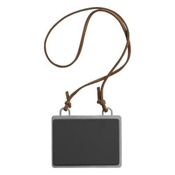 """Chalkboard Hangtag - Add a boutique touch to your pantry and gifts of homemade foods, beverages and preserves with our charming chalkboard-style hangtag. Zinc and iron plate with chalkboard surface hangs from an 18"""" faux leather cord that can be tied at any length."""