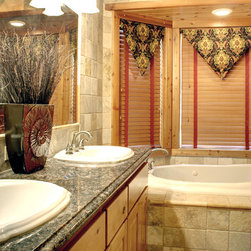 Interiors on Fox Farm Road - Our Products - Wood blinds are very popular in mountain homes and coordinate seamlessly with the abundance of other woods typically found in Big Bear homes.  These blinds are custom by Hunter Douglas.