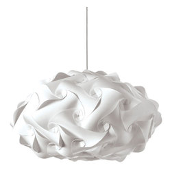 Ruffled White Rose Pendant Light - Whether you hang it above your kitchen table or in your bedroom, the soft-petaled Ruffled White Rose Pendant Light will add modern grace and up to 32 watts of gorgeous light to your space.