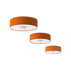 """Axo - Axo Skin ceiling lamp - SKI100 (medium) - The medium Skin ceiling lamp (UP SKI 100) from Axo is made in Italy. The medium Skin ceiling lamp is for indoor installation and available as a suspension, table, floor and wall fixture. Its lamp shade is made from flame-retardant eco-covering leather available in ten colors.   Products description: The medium Skin ceiling lamp (UP SKI 100) from Axo is made in Italy. The medium Skin ceiling lamp is for indoor installation and available as a suspension, table, floor and wall fixture. Its lamp shade is made from flame-retardant eco-covering leather available in ten colors.  *This is a custom product that ships in 12-14 weeks. Please contact us for shipping charges for delivery in 6-8 weeks. Details:                         Manufacturer:                         Axo                                         Designer:                         Axo                                         Made  in:            Italy                            Dimensions:                         Height: 8.3"""" (21cm) X Width: 27.6"""" (70cm)                                                     Light bulb:                                      3 X 23W E26 Flourescent or             4 X 42W 2G11 Flourescent                                         Material                         Leather, metal, fabric"""