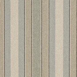 Blue Beige Green Striped Washed Linen Look Woven Upholstery Fabric By The Yard - This upholstery tweed fabric is very durable, and woven for an enhanced appearance. This material is great for all indoor upholstery and fabric related projects.