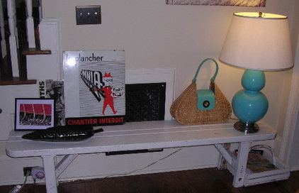 Eclectic Living Room Bench o'stuff