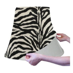 Shade Slip Cover Velvet Zebra Cone Shaped Small - The Zebra Pattern Shade Slip Cover lets you stand out from the crowd anytime. It is quick and easy to change for a special occasion, or any time you want to show off your Rustic side.