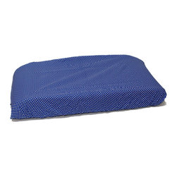 "Simplicity Blue - Changing Pad Cover - Changing pad cover comes in the ""Polka Dot Blue"" signature fabric in cotton.  Also available in sets!"