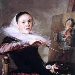 "Judith Leyster Self-Portrait - 16"" x 20"" Premium Archival Print - 16"" x 20"" Judith Leyster Self-Portrait premium archival print reproduced to meet museum quality standards. Our museum quality archival prints are produced using high-precision print technology for a more accurate reproduction printed on high quality, heavyweight matte presentation paper with fade-resistant, archival inks. Our progressive business model allows us to offer works of art to you at the best wholesale pricing, significantly less than art gallery prices, affordable to all. This line of artwork is produced with extra white border space (if you choose to have it framed, for your framer to work with to frame properly or utilize a larger mat and/or frame).  We present a comprehensive collection of exceptional art reproductions byJudith Leyster."