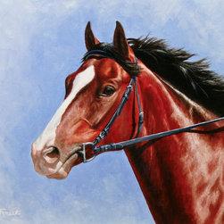 Crista Forest - ORIGINAL Painting - Horse Portrait - Original oil painting. Portrait of a bay thoroughbred racehorse.