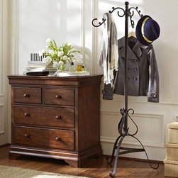 New York Clothes Rack - I love that this rack comes out enough that you can use hangers. Put it in the bedroom, and hang the clothes you will wear the next day on it.