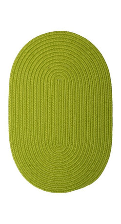 Colonial Mills - Colonial Mills Boca Raton BR65 Bright Green Rug BR65R144X180 12x15 - Just pick a coloreany colorethey are all here! This colorful outdoor rug utilizes a simple flat braid construction in an array of colors to put a fashionable stamp on your decor.