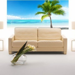 Wall Pops Wall Pops Palms and Sea Self-Adhesive Wall Decal - About WallPopsModern wall decor doesn't come easier – or more stylish – than it does from WallPops. With their designer products featuring bright colors, fun patterns, and unique accents, WallPops is quickly becoming the world's leader in fashionable peel-and-stick wall decals. Their high quality and versatile products are always repositionable and removable, making them safe for walls – in your living room, the kitchen, the kid's room, or a college dorm. WallPops products come with a wealth of sophisticated decor; from contemporary to classic and funky to functional, there's certainly a WallPops wall art product to suit any palate. WallPops is manufactured by Brewster Home Fashions, based in Randolph, Mass. Brewster is a fifth-generation, family-owned and operated company founded in 1954.