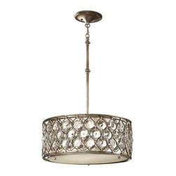 Feiss Lighting - 3- Light Shade Pendant - Feiss Lighting F2568/3BUS  in Burnished Silver