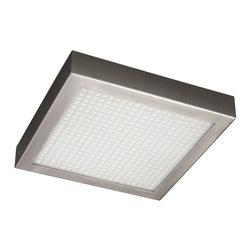 Philips - Philips PH-301981748 Petra Ceiling with Architectural glass diffuser, Nickel & B - Philips PH-301981748 Petra Ceiling with Architectural glass diffuser, Nickel & Black